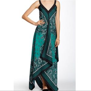 Micheal Kors Scarf Print Silk Maxi Dress